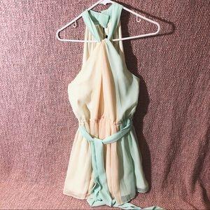 Victoria's Secret multi-color pastel dress